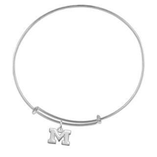 Michigan Sterling Silver Charm Adjustable Bracelet