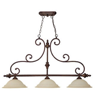 Capital Lighting Chandler Collection 3-light Burnished Bronze Island Light Fixture