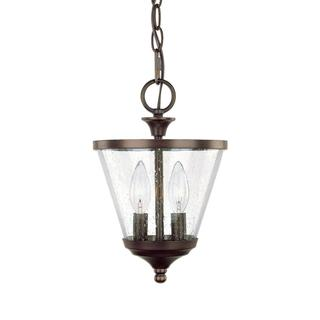 Capital Lighting Stanton Collection 2-light Burnished Bronze Convertable Foyer Pendant