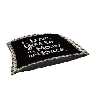 Thumbprintz Moon Gold and Black Fleece Pet Bed
