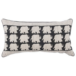 20-inch Elephant Stitiches Accent Pillow