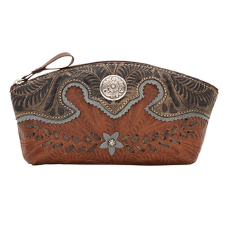 American West Desert Wildflower Silver Floral Accessory Bag