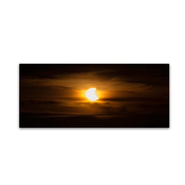 Kurt Shaffer 'October 2014 Solar Eclipse' Canvas Art
