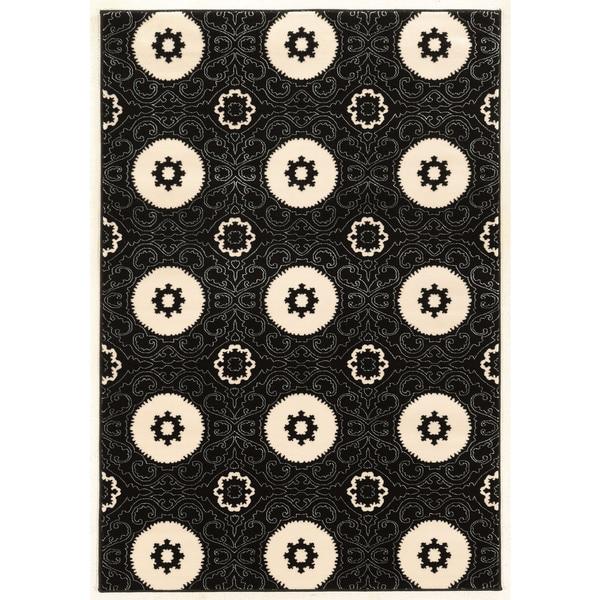 Linon Prisma Karma Black Rug (2' x 3')