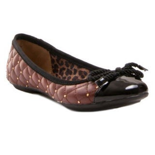 Gomax Women's Shoe Sienna 18 Quilted Stud Patent Toe Flat