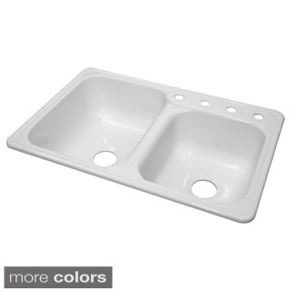 Lyons Gourmet Choice Dual Offset Bowl 8.5-inch Deep Acrylic Kitchen Sink
