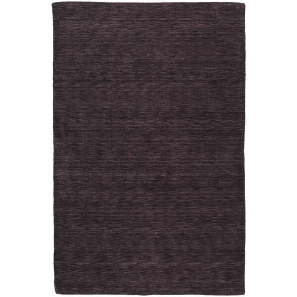 Regale Handmade Aubergine Wool Rug (8' x 11')