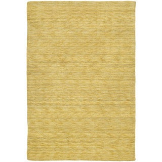 Regale Handmade Butterscotch Wool Rug (8' x 11')