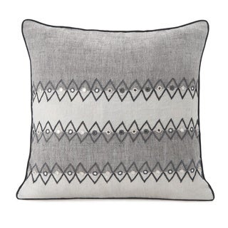 Spun by Welspun HandCrafted Bhujori Grey 16-inch Decorative Pillow