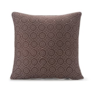 Spun by Welspun HandCrafted Jaal Brown 16-inch Decorative Pillow