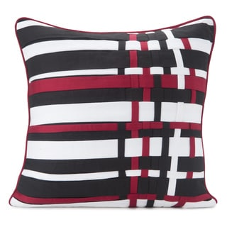 Spun by Welspun HandCrafted Knotted Black 16-inch Decorative Throw Pillow