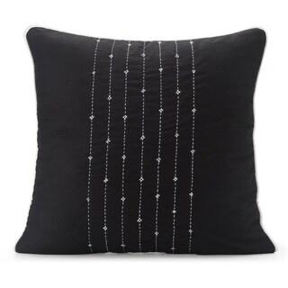 Spun by Welspun HandCrafted Lehar Black 16-inch Decorative Pillow