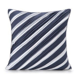 Spun by Welspun HandCrafted Thar Blue 16-inch Decorative Pillow