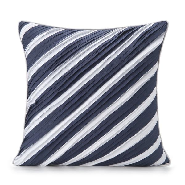 Spun by Welspun HandCrafted Thar Blue 16-inch Decorative Pillow