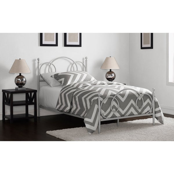 Charmers Cloud 9 Silver Twin Bed