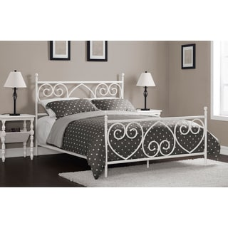 Charmers Heart to Heart White Queen Bed