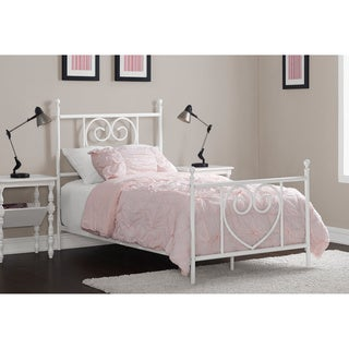 Charmers White Heart to Heart Twin Bed