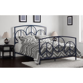 Charmers Peace Navy Queen Bed