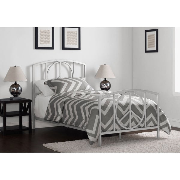 Charmers Peace Silver Twin Bed