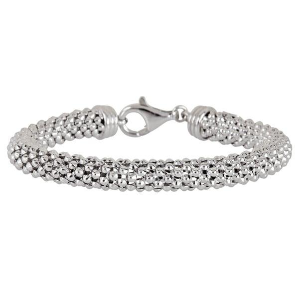 Sterling Silver Popcorn Chain Bracelet