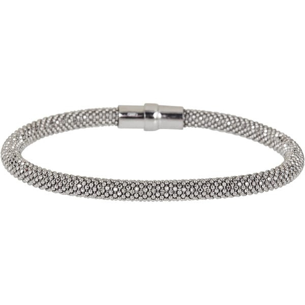Sterling Silver Magnetic Mesh Bracelet