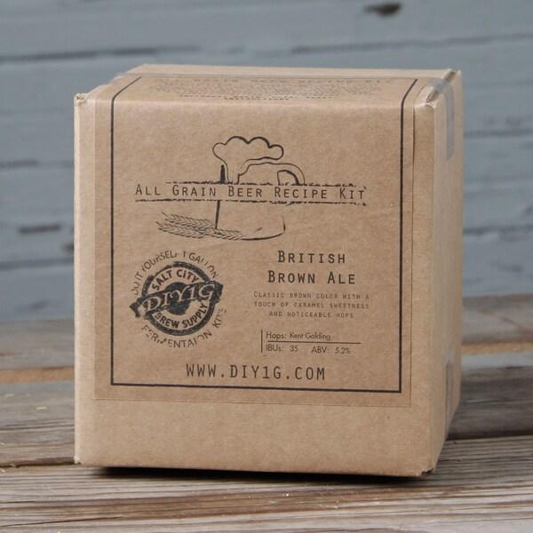 DIY One-gallon Brown Ale Recipe Kit