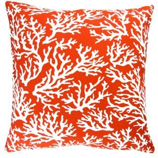 Artisan Pillows Indoor/ Outdoor 18-inch Mandarin Orange Coral Reef Beach House Decor Throw Pillow Cover (Set of 2)