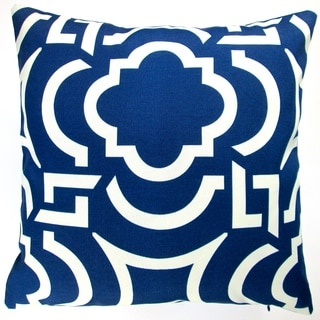 Artisan Pillows Indoor/ Outdoor 18-inch Navy Blue and White Modern Contemporary Beach Decor Geometric Throw Pillow (Set of 2)