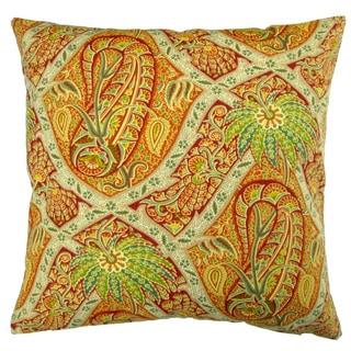 Artisan Pillows Outdoor 18-inch Tommy Bahama Fabric Orange Paisley Tropical Island Coastal Beach House Throw Pillow (Set of 2)