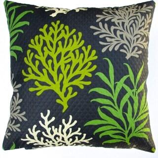 Artisan Pillows Indoor/ Outdoor 18-inch Modern Lime Green/Black Coral Reef Beach House Coastal Living Decor Throw Pillow