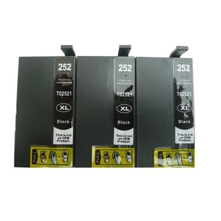 3-Pack Replacing T252XL120 Black Ink Cartridge For Epson WF-3620 WF-3640 WF-7110 WF-7610 WF-7620 Printer