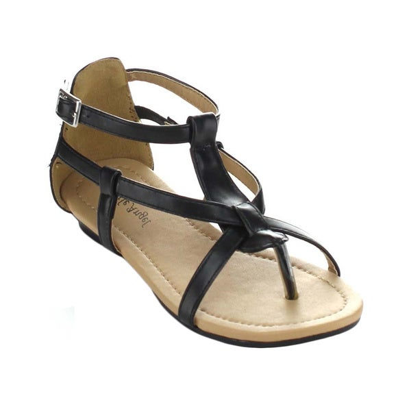 Little Angel Terry-747E Children's Strappy Ankle Strap Thong Sandals