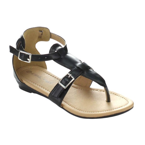 Little Angel Terry-745E Children's Ankle Strap Sandal