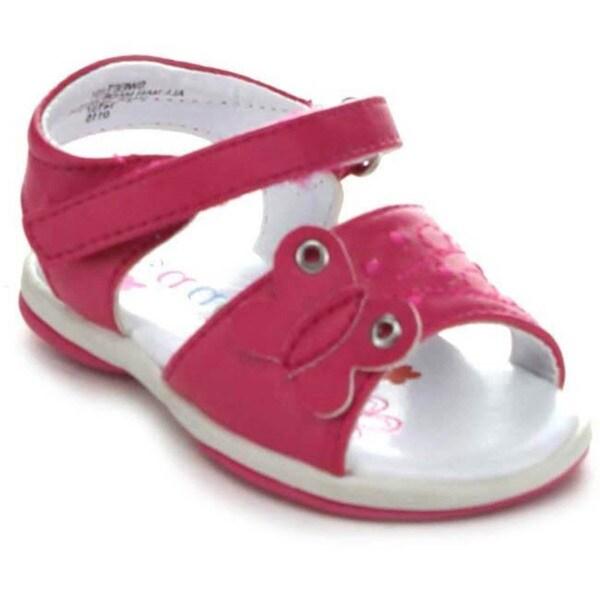 Aadi Sweet-831 Children's Velcro Ankle Strap Flat Sandal