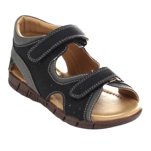 Auston Arsen-827 Children's Two Tone Ankle Strap Flat Sandals