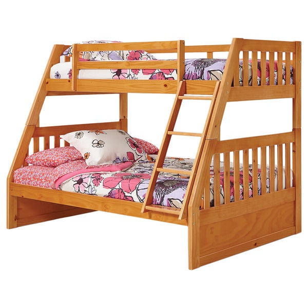 Pine Ridge Twin Full Mission Bunk Bed
