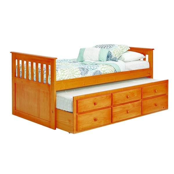 Pine Ridge Mission Style Twin Trundle Bed