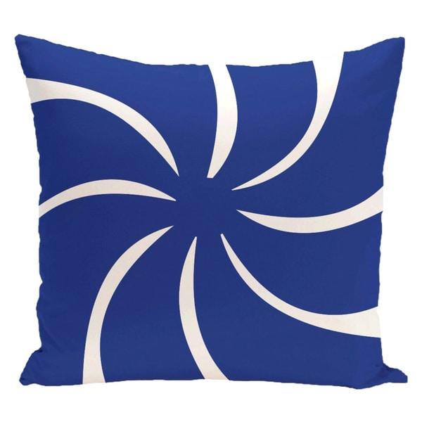 Decorative Holiday Swirl Geometric Print 18-inch Pillow 15548112