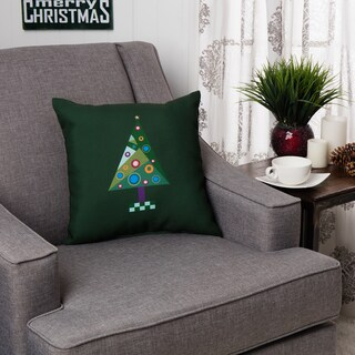 Decorative Holiday Tree 16-inch Pillow
