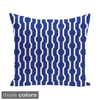 Decorative Geometric Holiday Print 18-inch Pillow