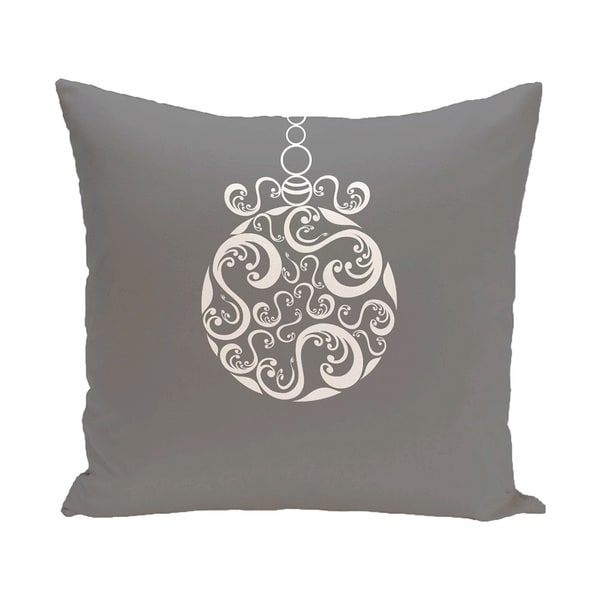 Decorative Holiday Ornament Swirl Print 16-inch Pillow 15548251