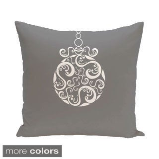 Decorative Holiday Ornament Swirl Print 16-inch Pillow