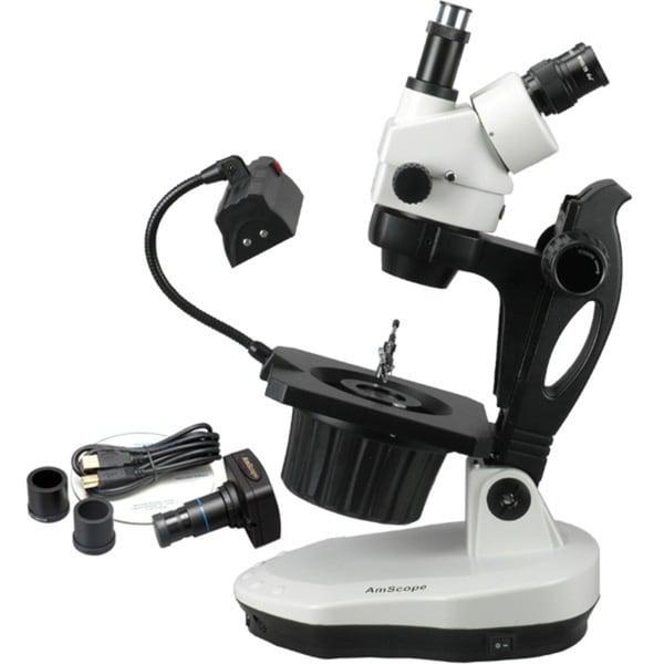 3.5X-90X Advanced Jewel Gem Microscope with 5MP Camera 15548267