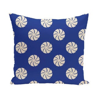 Decorative Holiday Multi Swirl Geometric Print 16-inch Pillow