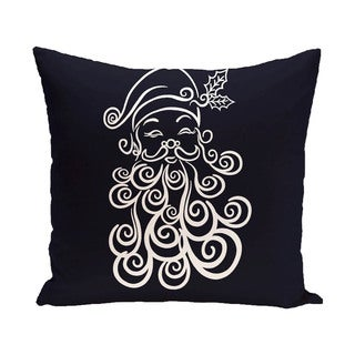 Decorative Holiday Saint Nick Print 16-inch Pillow