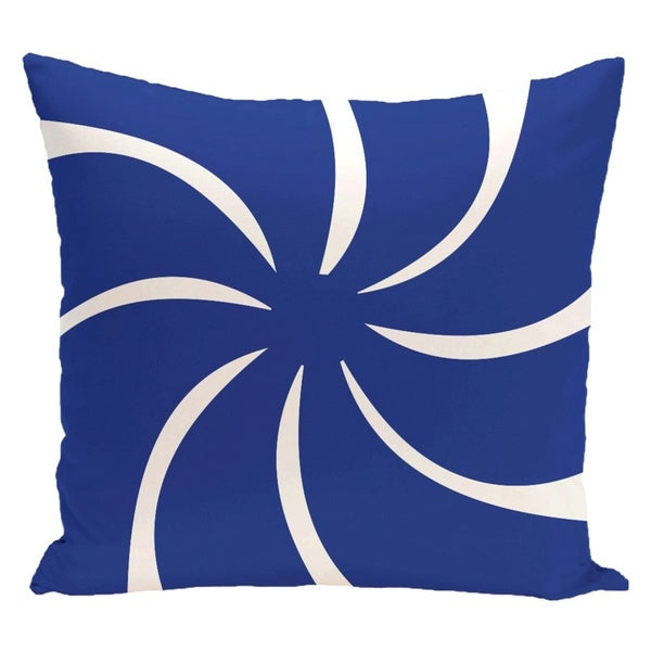 Decorative Holiday Swirl Geometric Print 16-inch Pillow 15548310