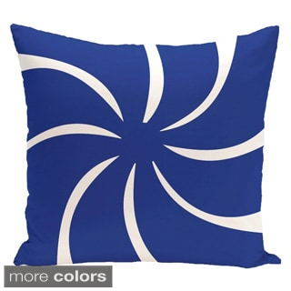 Decorative Holiday Swirl Geometric Print 16-inch Pillow