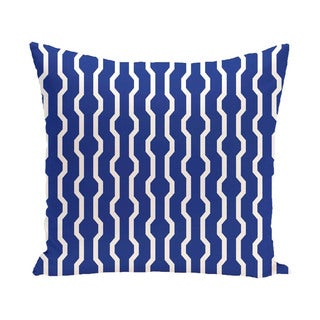 Decorative Holiday Geometric Print 16-inch Pillow