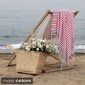 Authentic Pestemal Fouta Border Stripe Turkish Cotton Bath/ Beach Towel