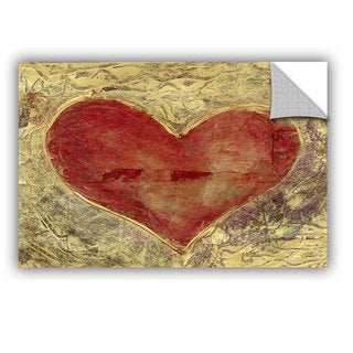 ArtWall Elena Ray ' Red Heart Of Gold ' Art Appeals Removable Wall Art